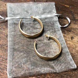 Boutique Gold Crescent Hoops